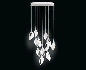 Lampa Wisząca Leucos Nia 12 S Biała Nowoczesna Led Lampy Lampy