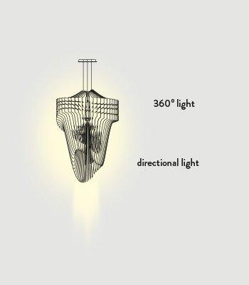 Lampa wisząca LED Slamp Aria S Gold | Lampy  Lampy