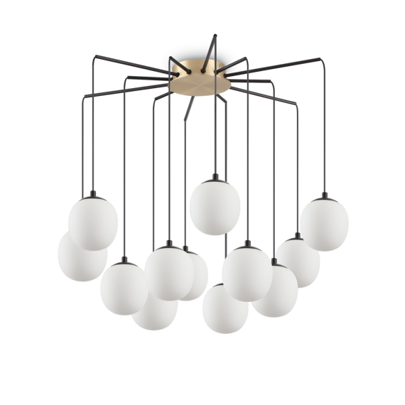 Lampa wisząca duża do salonu Ideal Lux Rhapsody SP12